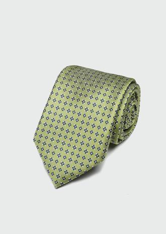 Ds Damat Yeşil Desenli Kravat - 8682445180039 | D'S Damat