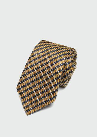 Ds Damat Sarı Desenli Kravat - 8682445180060 | D'S Damat