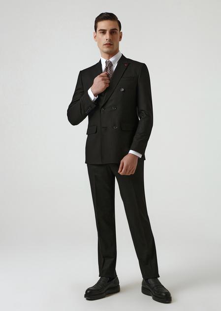 Ds Damat Slim Fit Siyah Düz Takım Elbise - 8682445178760   D'S Damat