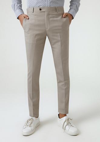 Twn Bej Armürlü Kumaş Pantolon - 8682060351500   D'S Damat