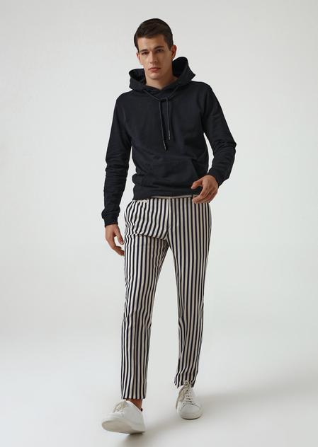 Twn Slim Fit Lacivert Armürlü Kumaş Pantolon - 8681778944639 | D'S Damat
