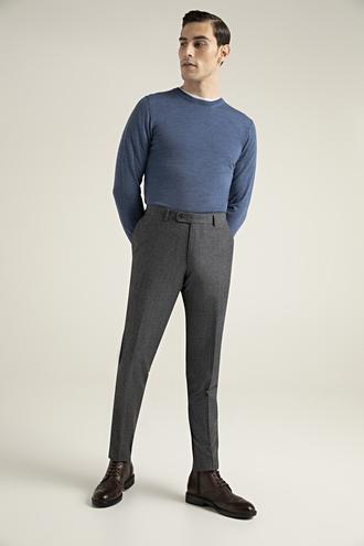 Damat Slim Fit Antrasit Desenli Kumaş Pantolon - 8682364571598 | Damat Tween