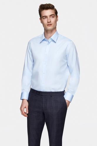 Damat Comfort Mavi Düz Nano Care Gömlek - 8681649975144 | Damat Tween