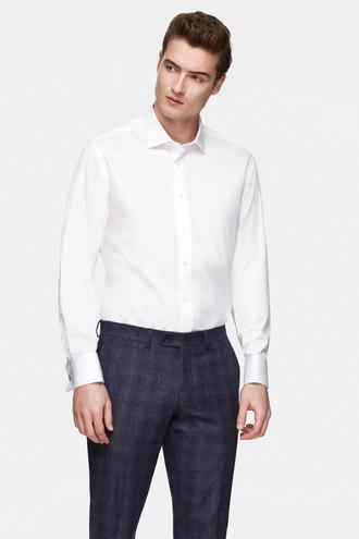 Damat Comfort Beyaz Düz Nano Care Gömlek - 8681649975915 | Damat Tween