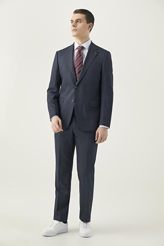 Ds Damat Slim Fit Lacivert Düz Takım Elbise - 8682060799692 | D'S Damat