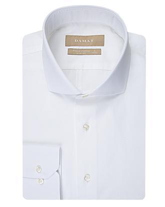 Damat Slim Fit Beyaz Düz Gömlek - 8681649263487 | Damat Tween