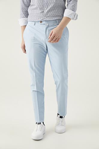 Twn Slim Fit Mavi Düz Kumaş Pantolon - 8681494306261 | D'S Damat