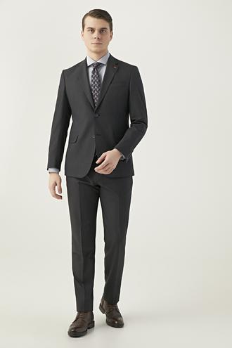 Ds Damat Slim Fit Antrasit Düz Takım Elbise - 8681779986485 | D'S Damat