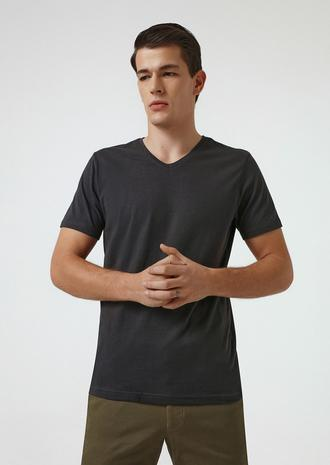 Ds Damat Slim Fit Antrasit T-shirt - 8682445086010   D'S Damat