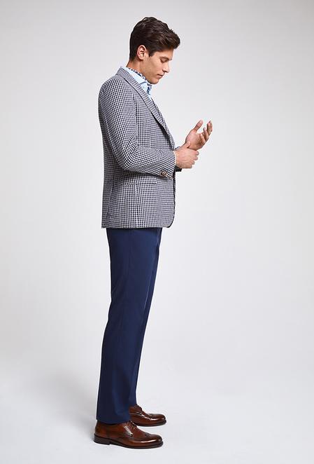 Ds Damat Slim Fit Lacivert Kareli Kombinli Takım Elbise - 8682060148773 | D'S Damat