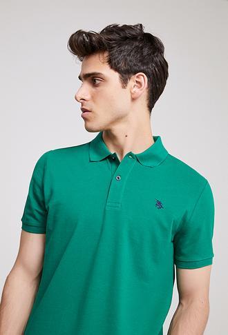 Ds Damat Regular Fit Yeşil Pike Dokulu T-shirt - 8682060907240 | D'S Damat