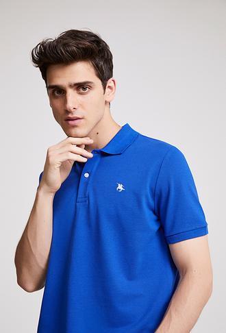 Ds Damat Regular Fit Saks Mavi Pike Dokulu T-shirt - 8682060907400 | D'S Damat
