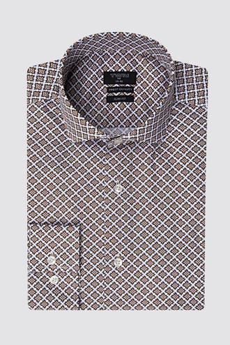 Twn Slim Fit Beyaz Baskılı Gömlek - 8681494889931   D'S Damat