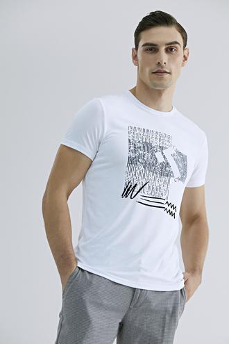 Tween Beyaz Baskılı T-shirt - 8681649858102 | Damat Tween