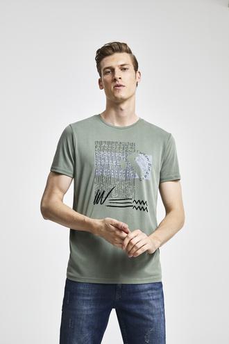 Tween Haki Baskılı T-shirt - 8681649859246 | Damat Tween