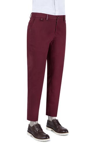 Damat Slim Fit Bordo Chino Pantolon - 8681142596624 | D'S Damat