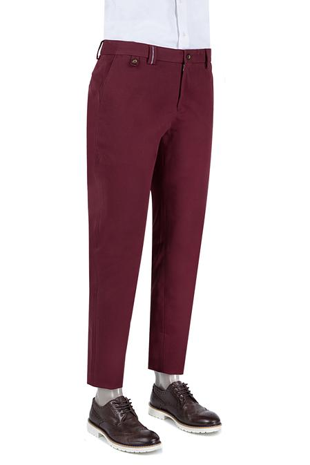 Damat Slim Fit Bordo Chino Pantolon - 8681142596624   Damat Tween