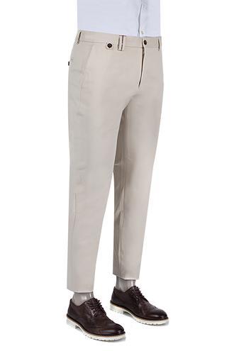 Damat Slim Fit Bej Chino Pantolon - 8681142596587 | D'S Damat