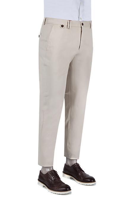 Damat Slim Fit Bej Chino Pantolon - 8681142596518   Damat Tween