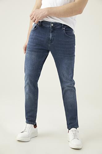 Damat Slim Fit Lacivert Denım Pantolon - 8681649510765 | Damat Tween