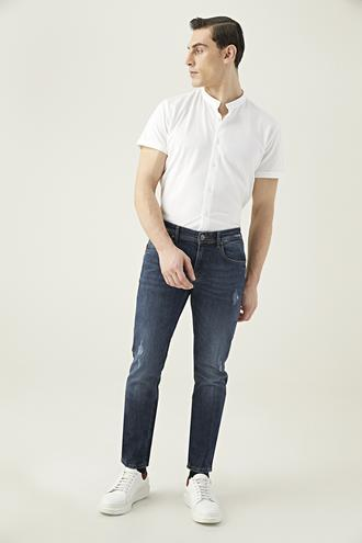 Tween Super Slim Fit İndigo Denim Pantolon - 8681649279969 | Damat Tween