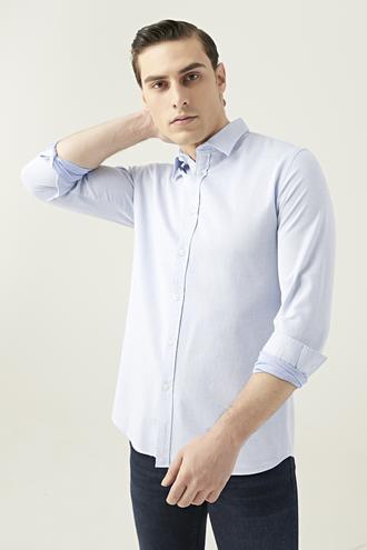 Tween Slim Fit Mavi Gömlek - 8682364654109 | Damat Tween