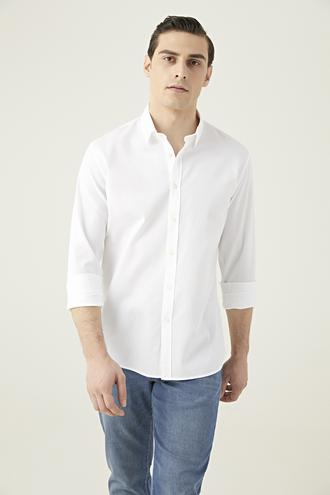 Tween Slim Fit Beyaz Gömlek - 8682364654161 | Damat Tween