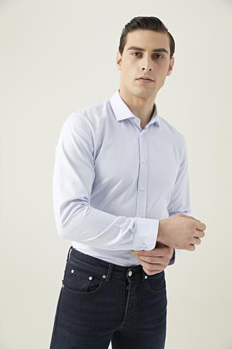 Tween Slim Fit Mavi Gömlek - 8682364655861 | Damat Tween