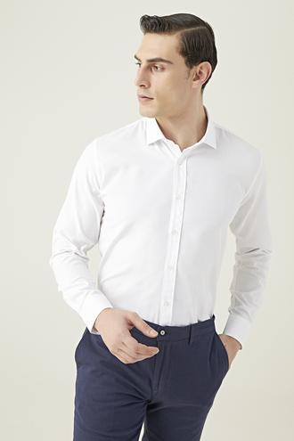 Tween Slim Fit Beyaz Gömlek - 8682364655939 | Damat Tween