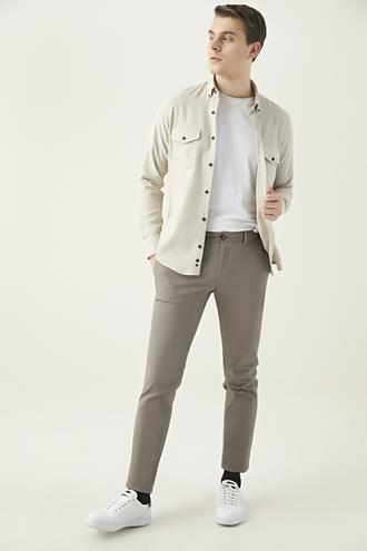 Twn Slim Fit Vizon Armürlü Chino Pantolon - 8682060593696 | D'S Damat