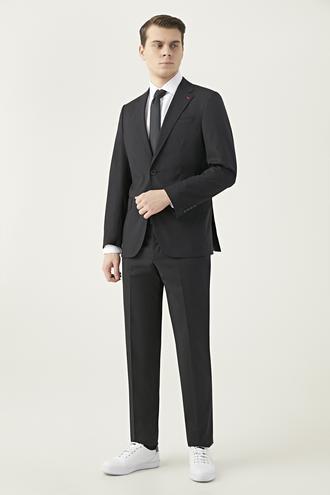 Ds Damat Slim Fit Siyah Düz Takım Elbise - 8682445184495 | D'S Damat