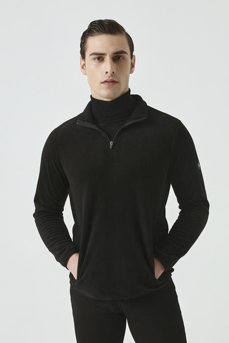 Ds Damat Slim Fit Siyah Polar Eşofman Üst - 8682445178616 | D'S Damat
