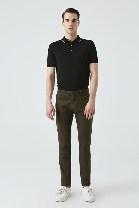 Ds Damat Slim Fit Haki Chino Pantolon - 8682445178371 | D'S Damat