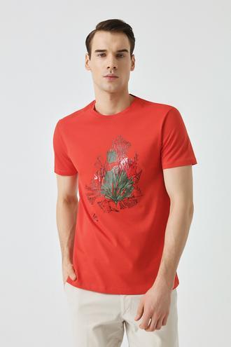 Damat Mercan Çizgili Baskılı T-shirt - 8681649909736 | Damat Tween
