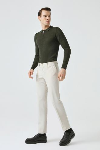 Damat Slim Fit Taş Chino Pantolon - 8682364231355   D'S Damat