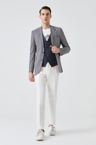 Tween Slim Fit Slim Fit Lila Desenli Takım Kombınlı - 8681649486336 | Damat Tween