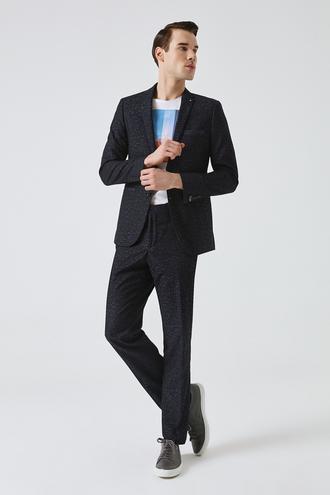 Tween Slim Fit Lacivert Desenli Takım Elbise - 8681649697725 | Damat Tween