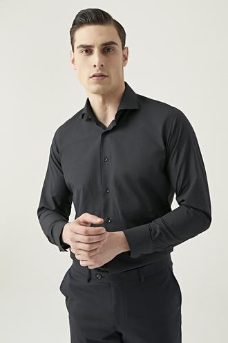 Ds Damat Slim Fit Siyah Gömlek - 8682445069938 | D'S Damat