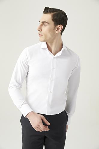 Ds Damat Slim Fit Beyaz Gömlek - 8682445070088 | D'S Damat