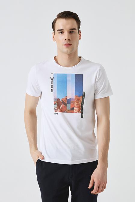 Tween Beyaz Baskılı T-shirt - 8681649858409   Damat Tween