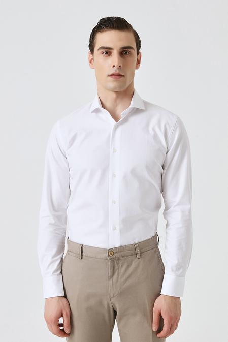 Damat Slim Fit Beyaz Desenli Gömlek - 8682364863761 | Damat Tween