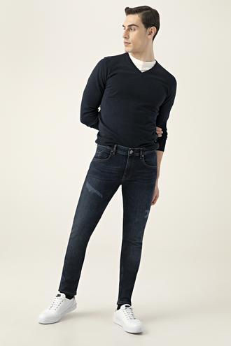 Tween Super Slim Fit İndigo Denim Pantolon - 8681649824534   Damat Tween