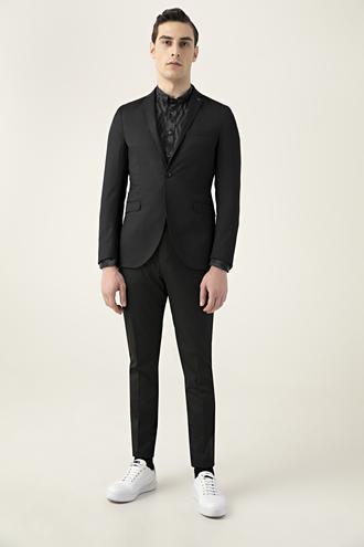 Tween Slim Fit Siyah Takım Elbise - 8682364829668 | Damat Tween