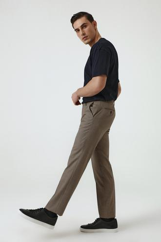 Ds Damat Slim Fit Kahve Kaz Ayağı Kumaş Pantolon - 8682060897572 | D'S Damat