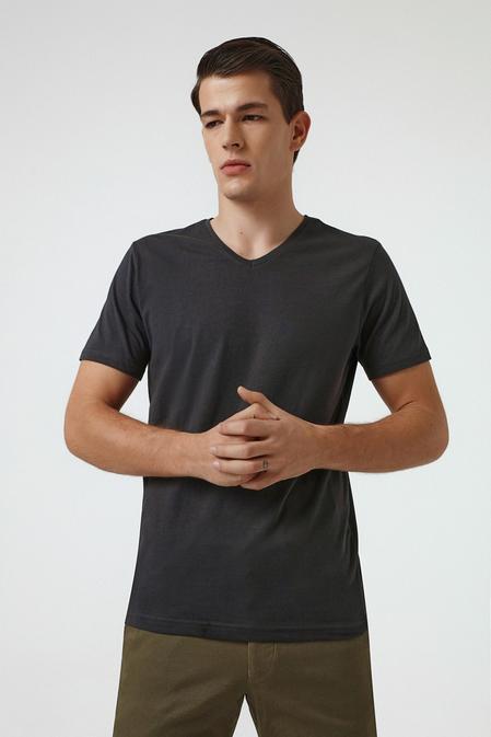 Ds Damat Slim Fit Antrasit T-shirt - 8682445086010 | D'S Damat