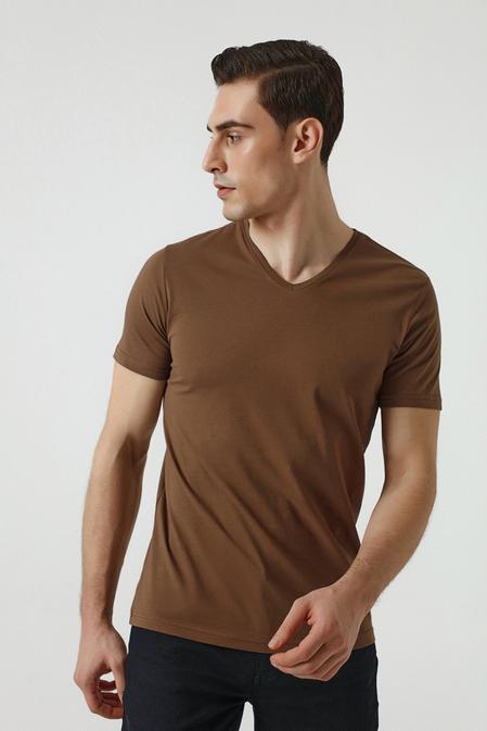 Ds Damat Slim Fit Vizon T-shirt - 8682445086058 | D'S Damat