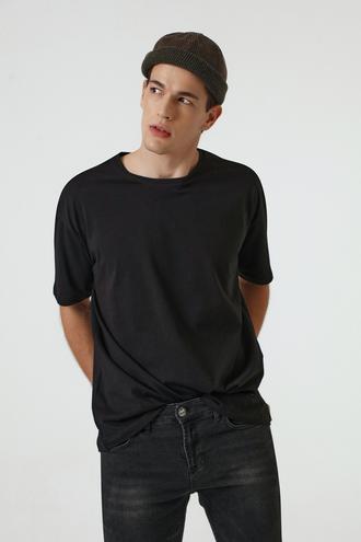 Ds Damat Oversize Siyah T-shirt - 8682445062465 | D'S Damat