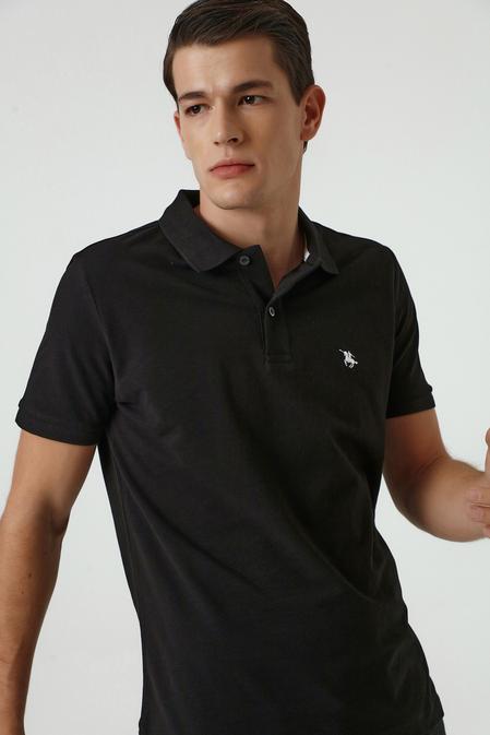 Ds Damat Regular Fit Siyah Pike Dokulu T-shirt - 8682060907103 | D'S Damat