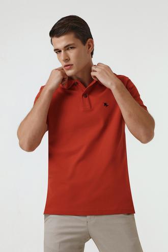 Ds Damat Regular Fit Kiremit Pike Dokulu T-shirt - 8682060907196 | D'S Damat