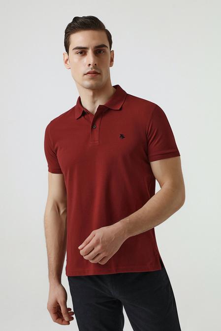 Ds Damat Regular Fit Bordo Pike Dokulu T-shirt - 8682060907578 | D'S Damat